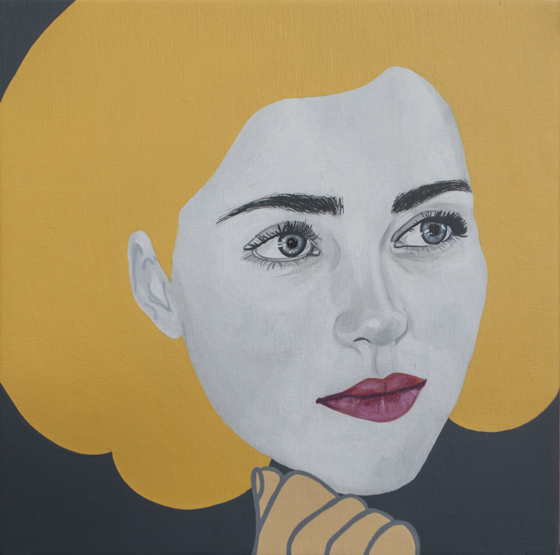 Sadie Marie by Chambers Austelle | 6 x 6 in. acrylic on birch wood panel