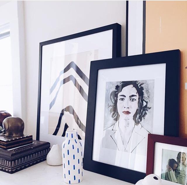 Framed Ann print